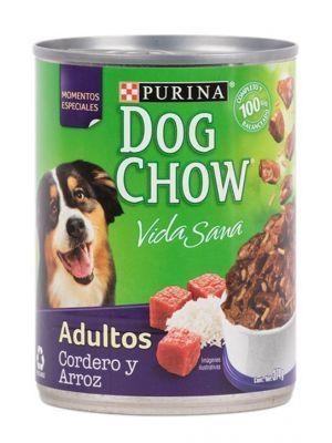 Comida para Perros Lata Dog chow cordero-Ciudaddemascotas.com