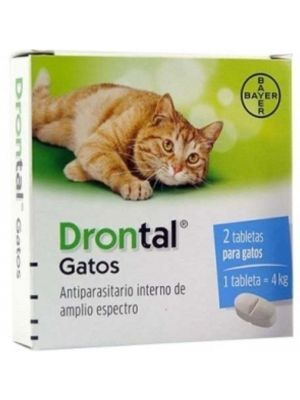 Drontal para Gatos Tabletas x 2