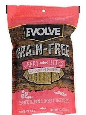 Snack para perro Evolve Snack Jerky Salmon-Ciudaddemascotas.com