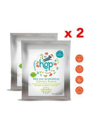 Hop Mix Probióticos para Gatos Carne y Avena x 10 gr x 2 und