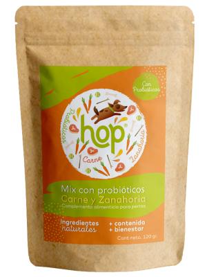 Hop Mix Probióticos para Perros Carne x 120 gr