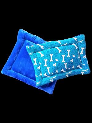 Cojín Colchoneta  Azul / huesos azules talla S-ciudaddemascotas.com