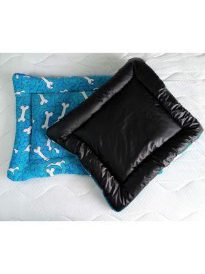 Cojín para Perros impermeable Huesos azules-Ciudaddemascotas.com