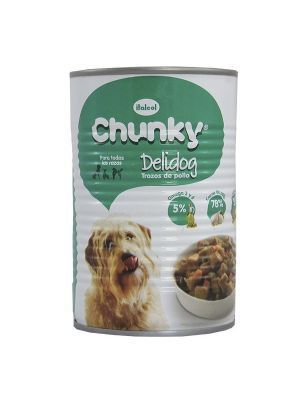 Chunky delidog Trozos de Pollo Lata Perro 400 gr
