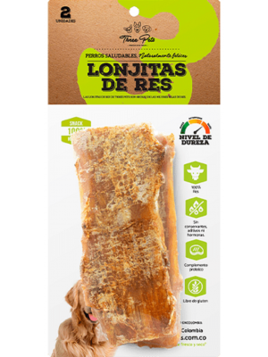 Three Pets - Lonjitas de Res 100 gr x 2 Und