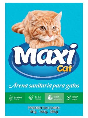 Arena para gatos Maxicat aglomerante - Ciudaddemascotas