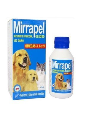 Mirrapel Perros y Gatos Oleoso Suplemento Nutricional (120 Ml)