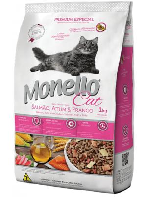 Comida para gatos Monello Salmón, Atún y Pollo - Ciudaddemascotas