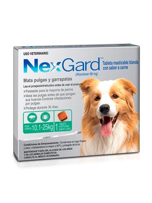 Nexgard antipulgas para perros medianos-Ciudaddemascotas.com