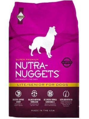 Nutra Nuggets Lite Senior para Perros 15kg - Ciudaddemascotas.com