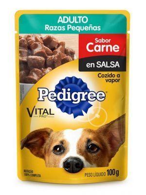 Pedigree Pouch Adulto Raza Pequeña Carne 100 g - P80