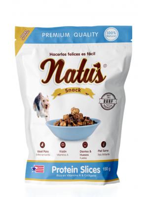 Natus Snacks Protein Slices  - Ciudaddemascotas.com