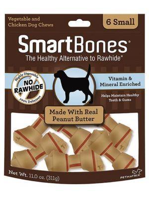 Smartbones Peanut Butter Small x 6 Piezas