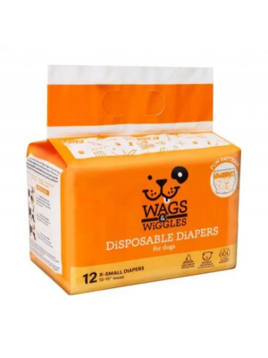 Pañales wags & wiggles x-small x 12 und - Ciudaddemascotas.com