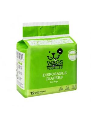 pañales wags & wiggles large x 12 und - ciudaddemascotas.com