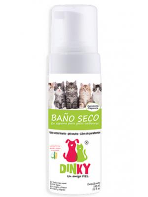 Dinky Baño Seco en Espuma Para Gatos Cachorros x 200 ml