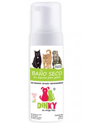 Dinky Baño Seco en Espuma Gatos Adultos x 200 ml