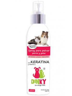 Dinky Spray Para Peinar Mascotas Keratina-Ciudaddemascotas.com