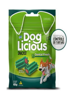 Dog Licious Snack Para Perros Dental Fresh x 65g