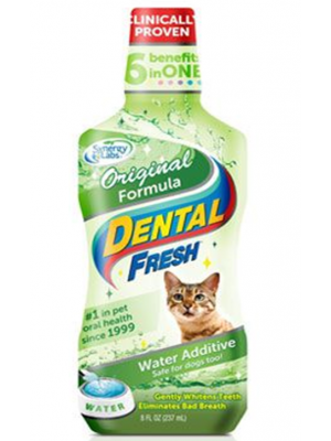 Enjuague Bucal Dental Fresh Gatos 8 oz - Ciudaddemascotas.com