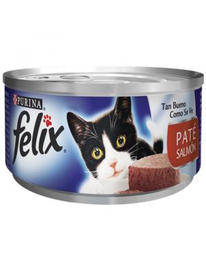 Comida Lata Gato Felix Paté Salmon - Ciudaddemascotas.com