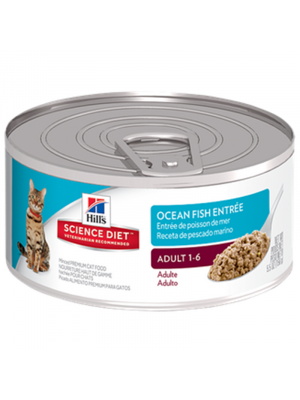 Lata Hill's Hairball Control Seafood Ocean-Ciudaddemascotas.com