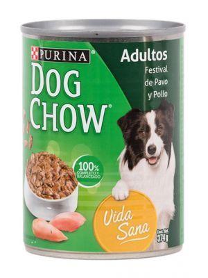 Comida Lata Dog Chow Pavo Pollo 375g - Ciudaddemascotas.com