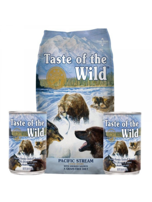 Taste Of The Wild Pacific City Combo Ancheta Stream Canine 13.6 Kg + 2 Latas 374 grs