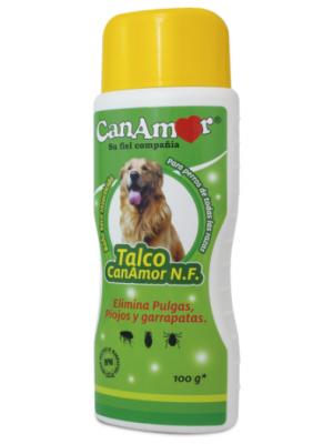Talco insecticida Canamor para perros x 100 cc