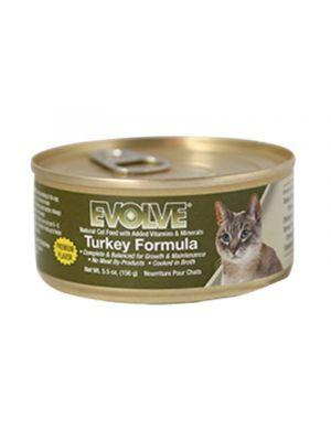 Comida en Lata Evolve Cat Lata Pavo - ciudaddemascotas.com