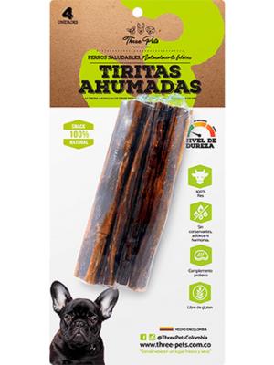 Snacks para Perros Three Pets Tiritas Ahumadas - Ciudaddemascotas