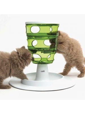 Torre de alimentación interactiva para gato-ciudaddemascotas.com