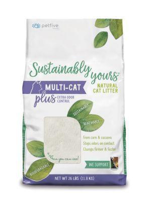 Arena para gatos Sustainably Yours Multi Cat - Ciudaddemascotas